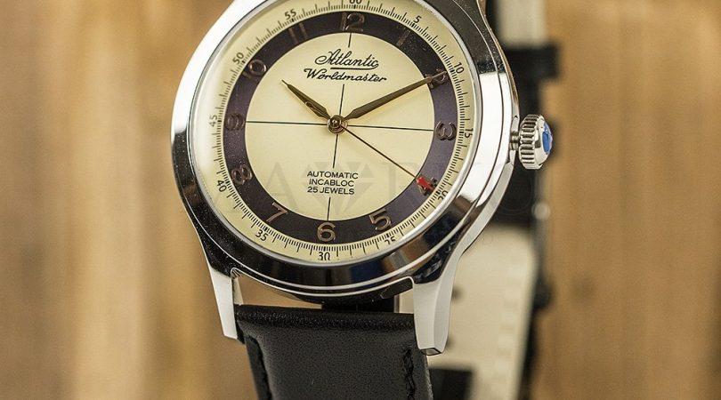 elegancki zegarek Atlantic na pasku