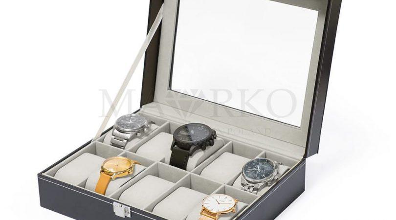 organizer na zegarki, pudełko